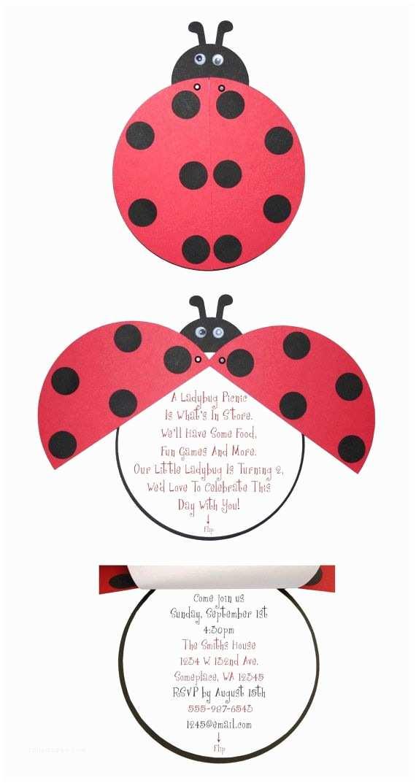 Ladybug Baby Shower Invitation Ladybug Birthday Or Baby Shower Invitations 15