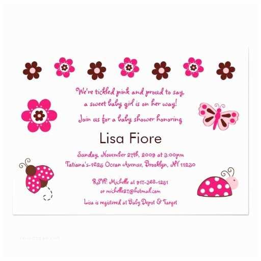 """Ladybug Baby Shower Invitation Ladybug Butterfly Custom Baby Shower Invitations 5"""" X"""