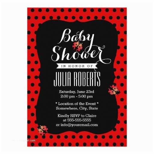 Ladybug Baby Shower Invitation Personalized Ladybug Baby