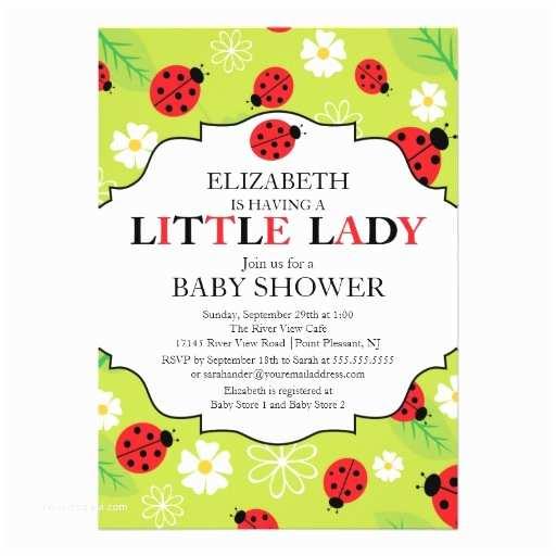 Ladybug Baby Shower Invitation Personalized Ladybug Baby Invitations