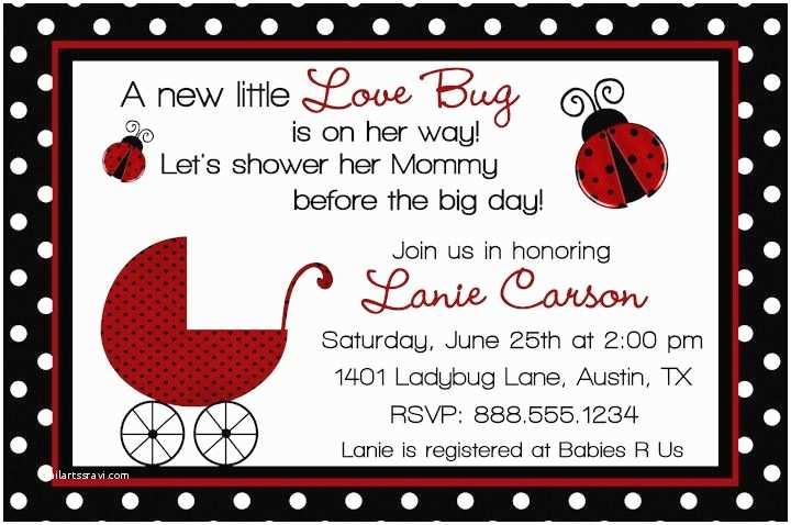 Ladybug Baby Shower Invitation Special Ladybug Baby Shower Design