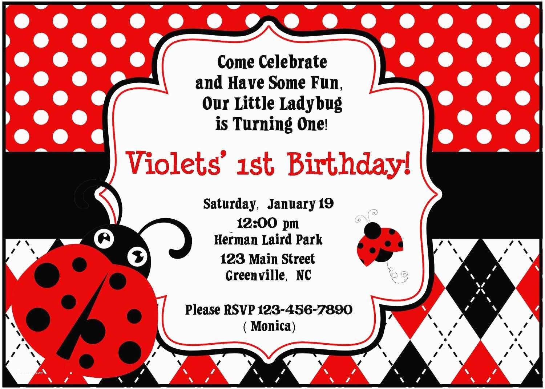Ladybug Baby Shower Invitation Template Ladybug Baby Shower