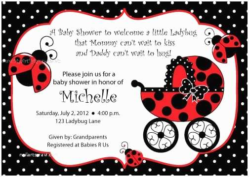Ladybug Baby Shower Invitations Free Printable Ladybug Baby Shower Invitation