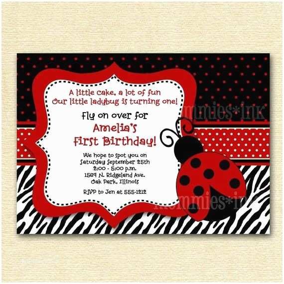 Ladybug Birthday Invitations 1000 Ideas About Ladybug Invitations On Pinterest