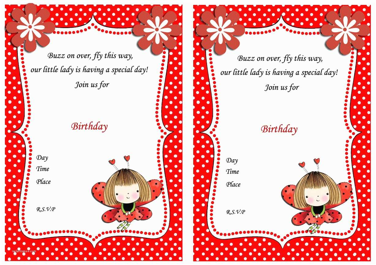 Ladybug Birthday Invitations Ladybug Birthday Invitations – Birthday Printable
