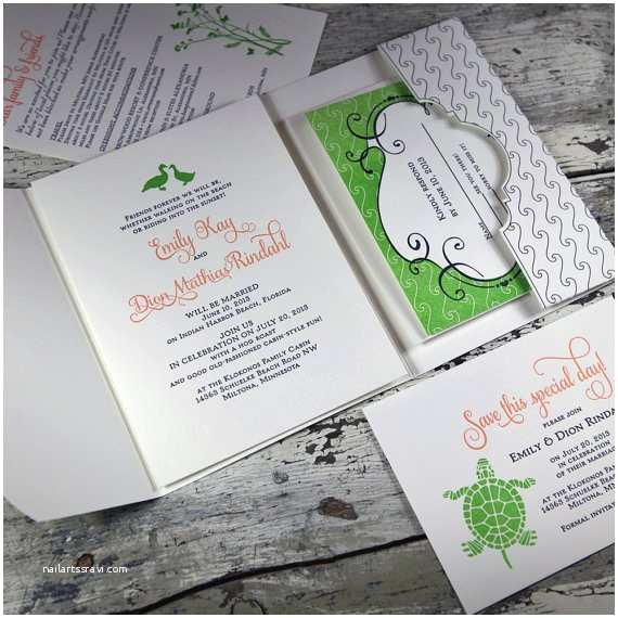 Lake Wedding Invitations at the Lake Wedding Invitation Suite Lp Bch 04 Sample