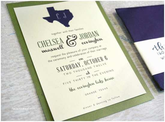 Lake Wedding Invitations Charm & Confetti Custom Texas Lake House Wedding