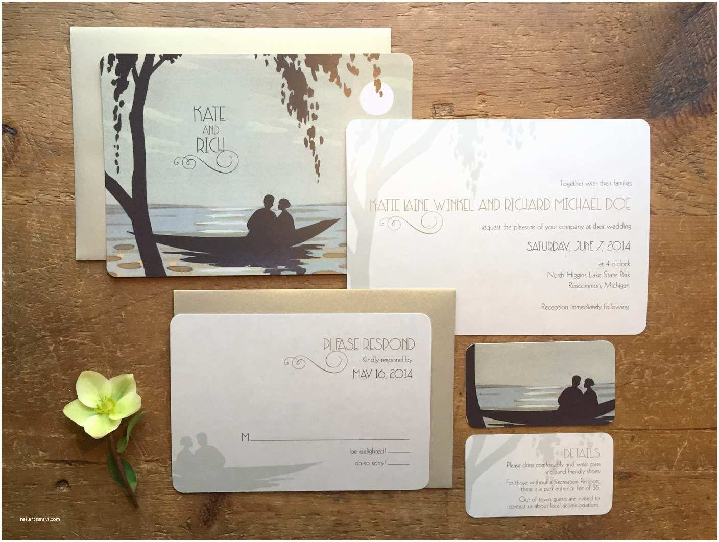Lake Wedding Invitations Destination Wedding Lake Wedding Invitations Ocean Wedding