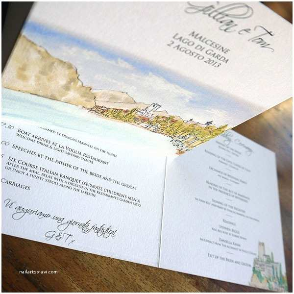 Lake Wedding Invitations Italian Wedding Invitation Designs