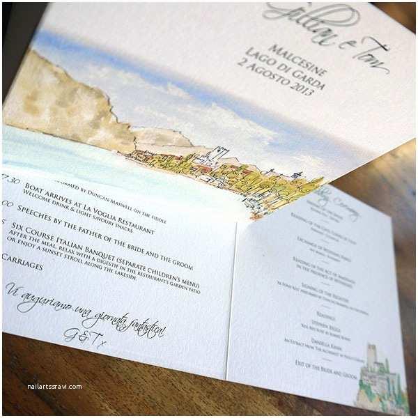 Lake Wedding Invitations Italian Wedding Invitation