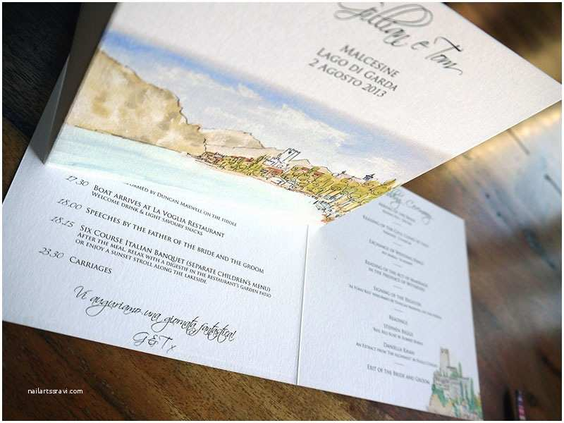 Lake Wedding Invitations Lake Garda Wedding Invitations