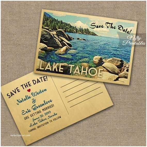 Lake Wedding Invitations Lake Tahoe Wedding Invitations Vtw Nifty