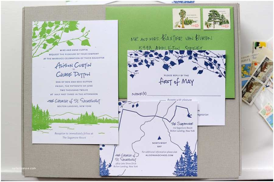 Lake Wedding Invitations Lake Wedding Invitations