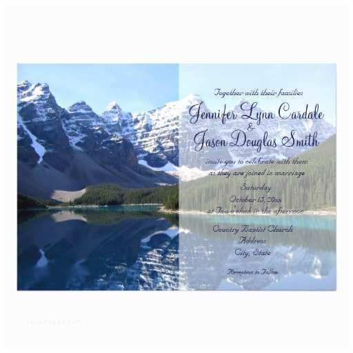 "Lake Wedding Invitations Rocky Mountain Lake Country Wedding Invitations 5"" X"