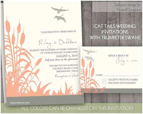 Lake Wedding Invitations Rustic Wedding Invitation