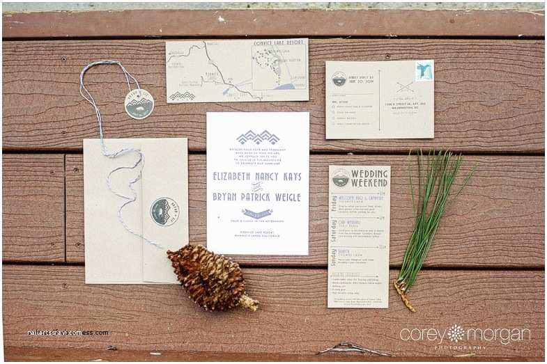 Lake Wedding Invitations Wedding Invitation Beautiful Camping themed Wedding