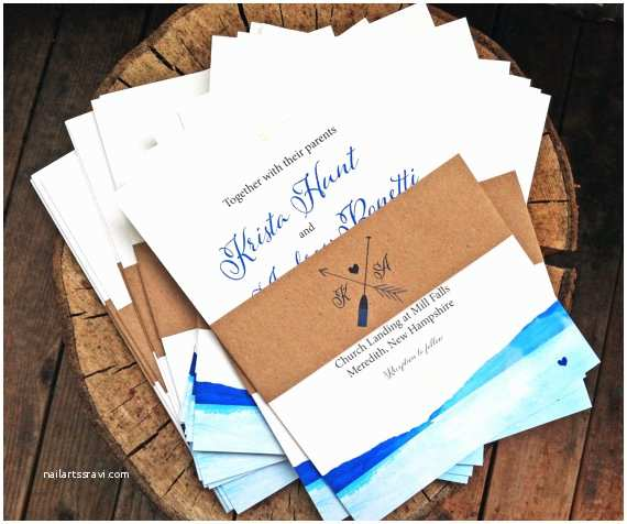 Lake Wedding Invitations Wedding Invitation by the Lake Watercolor Style Wedding