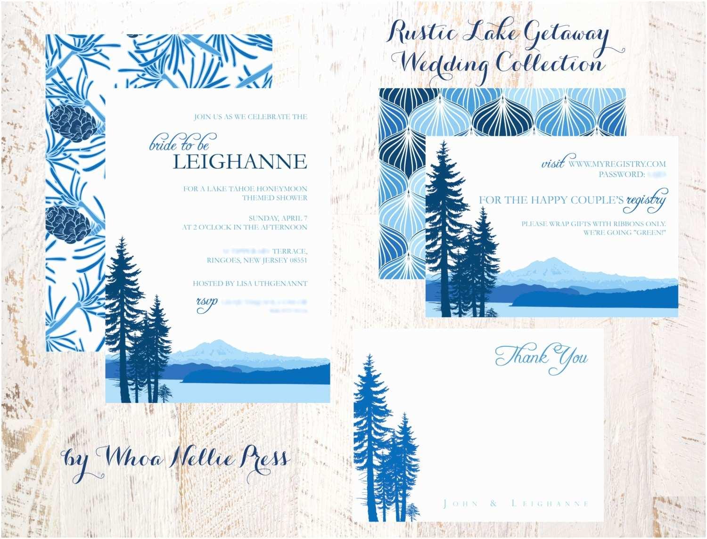 Lake Wedding Invitations Wedding Invitations Rustic Lake Getaway