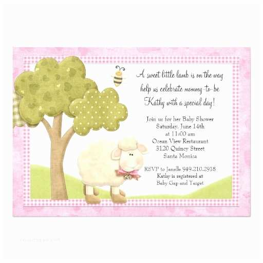 Lamb Baby Shower Invitations Lamb Baby Shower Invitation