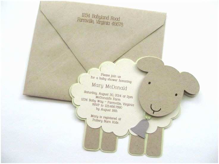 Lamb Baby Shower Invitations Lamb Baby Shower Invitations