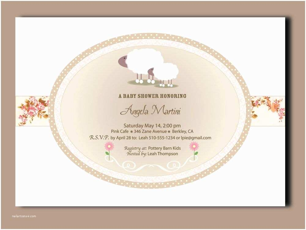Lamb Baby Shower Invitations Little Lamb Baby Shower Invitations 24 Printed Cards