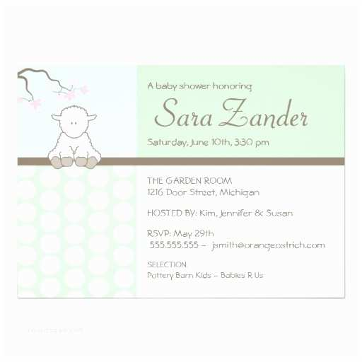 Lamb Baby Shower Invitations Little Lamb Baby Shower Invitations