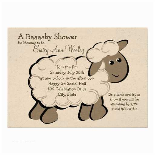 Lamb Baby Shower Invitations Personalized Little Lamb Baby Shower Invitations