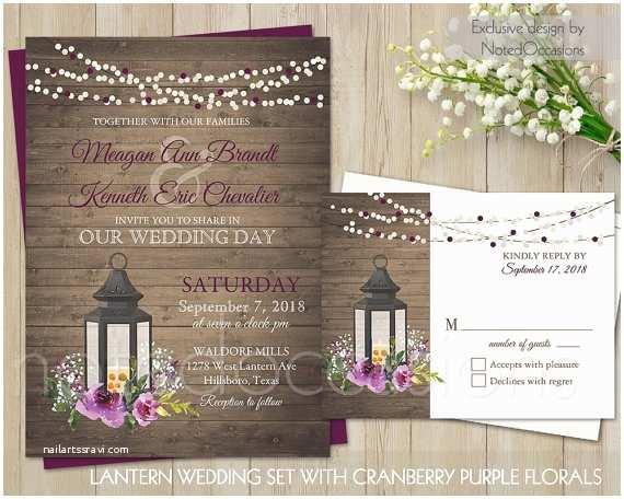 Lantern Wedding Invitations Lantern Wedding Invitation Rustic Wedding Invitation Printable