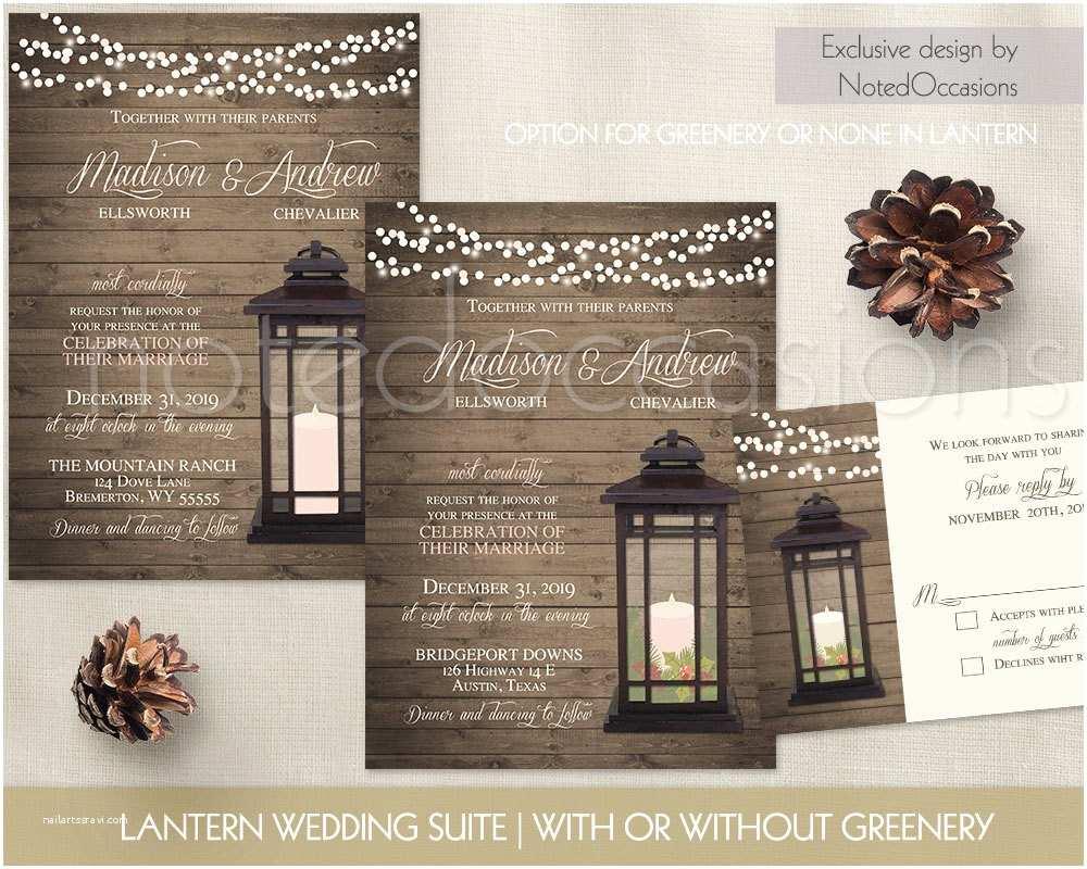 Lantern Wedding Invitations Lantern Wedding Invitations Rustic Winter Wedding Invitation