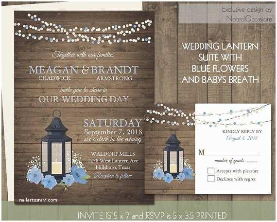Lantern Wedding Invitations Lantern Wedding Invitations Suite Rustic Babys Breath Pale
