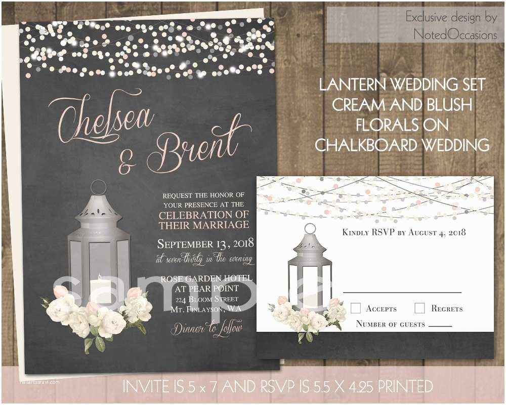 Lantern Wedding Invitations Rustic Wedding Invitations Lantern Wedding by Notedoccasions