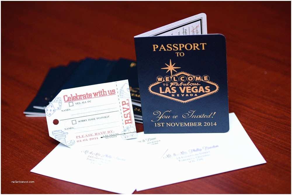 Las Vegas Wedding Invitations Australian Passport Wedding Invitation to Las Vegas