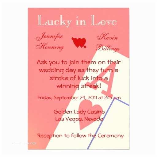 "Las Vegas Wedding Invitations Casino Las Vegas Wedding Invitation Announcement 5"" X 7"