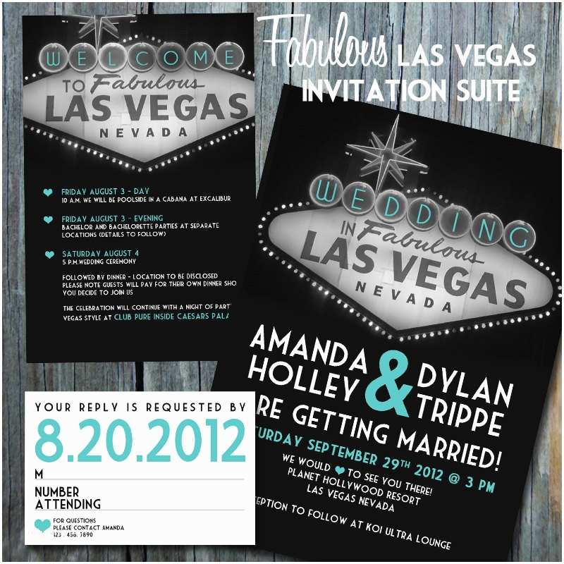 Las Vegas Wedding Invitations Etsy Your Place to and Sell All Things Handmade