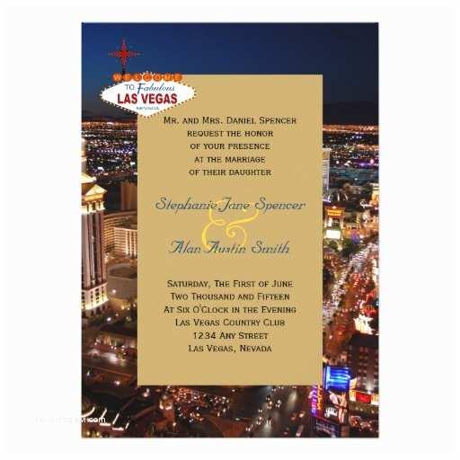 Las Vegas Wedding Invitations Fabulous Las Vegas Wedding Invitation