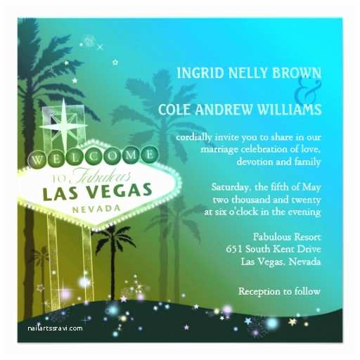 Las Vegas Wedding Invitations Glitz & Glam Las Vegas Wedding Invitations