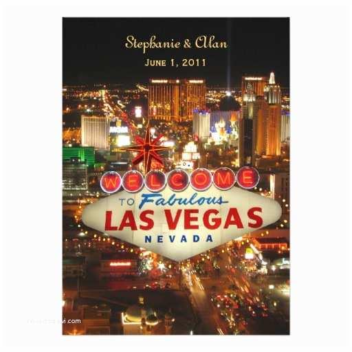 Las Vegas Wedding Invitations Las Vegas Wedding Invitation