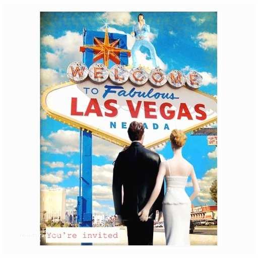 Las Vegas Wedding Invitations Las Vegas Wedding Invitation Postcard