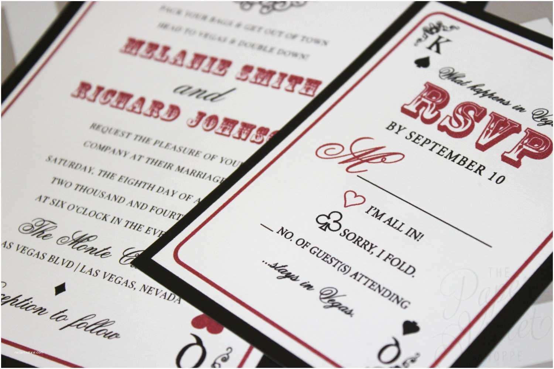 Las Vegas Wedding Invitations Las Vegas Wedding Invitation with Poker Chip Style Belly Band
