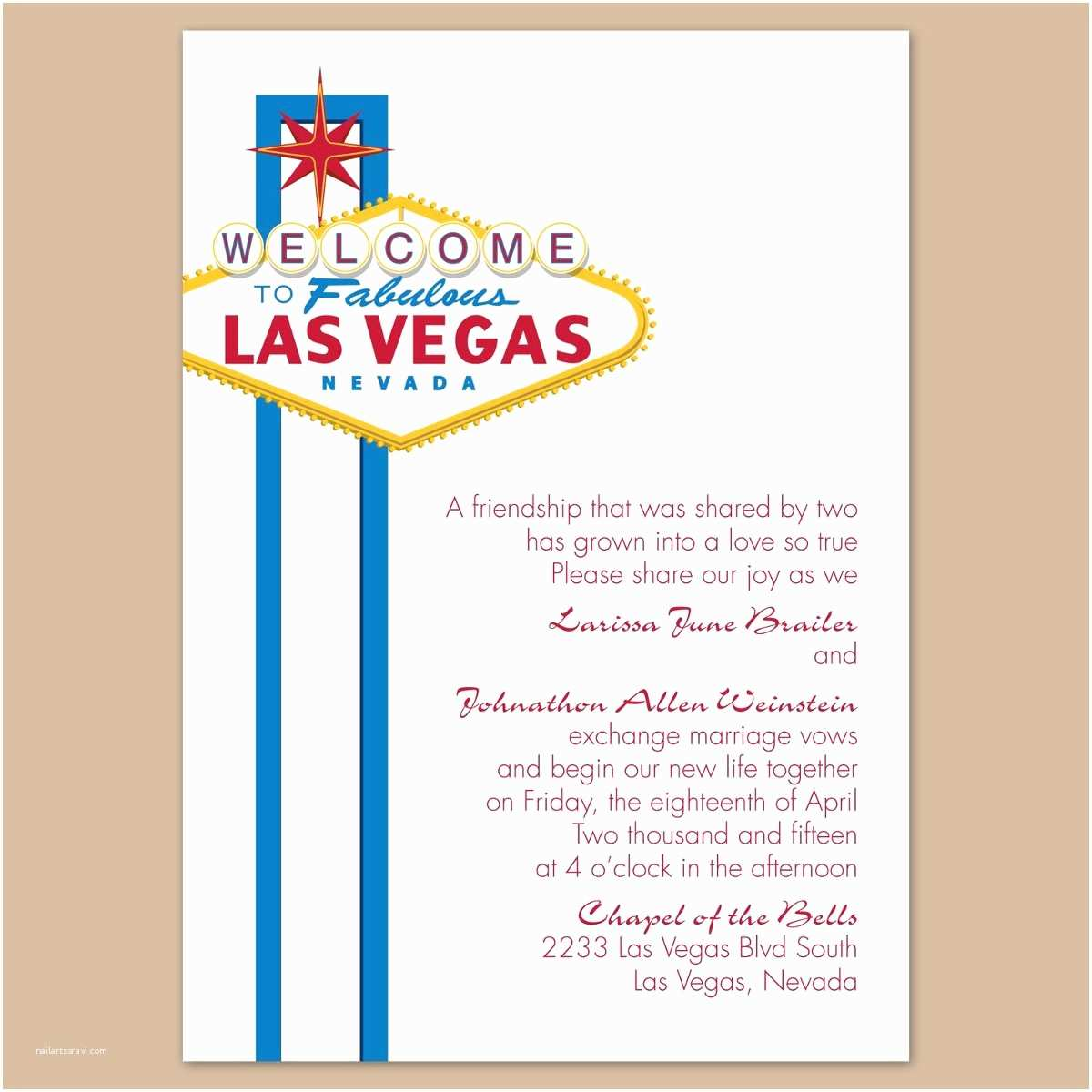 Las Vegas Wedding Invitations Las Vegas Wedding Invitations Free