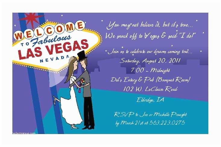 Las Vegas Wedding Invitations Las Vegas Wedding Invitations Reception by Practicallydarling