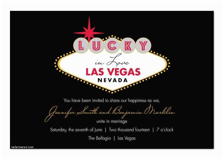 Las Vegas Wedding Invitations Lucky In Las Vegas Wedding Invitations by Invitation