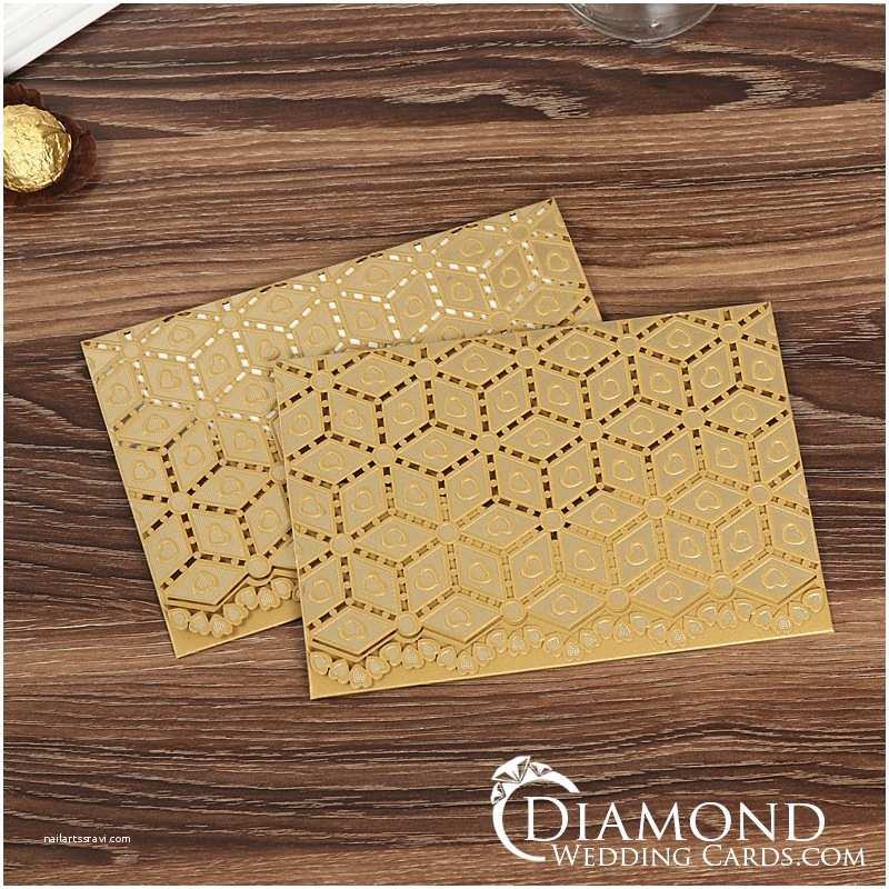 Laser Cut Indian Wedding Invitations Gold Laser Cut Sikh Wedding Card Indian Wedding