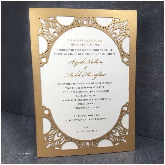 Laser Cut Indian Wedding Invitations Indian themed Laser Cut Border Wedding Invitation