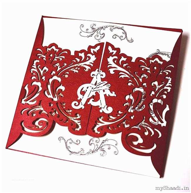 Laser Cut Indian Wedding Invitations Indian Wedding Invitations Myshaadi India Wedding Card