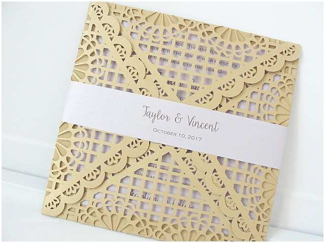 Laser Cut Lace Wedding Invitations Laser Cut Wedding Invitation