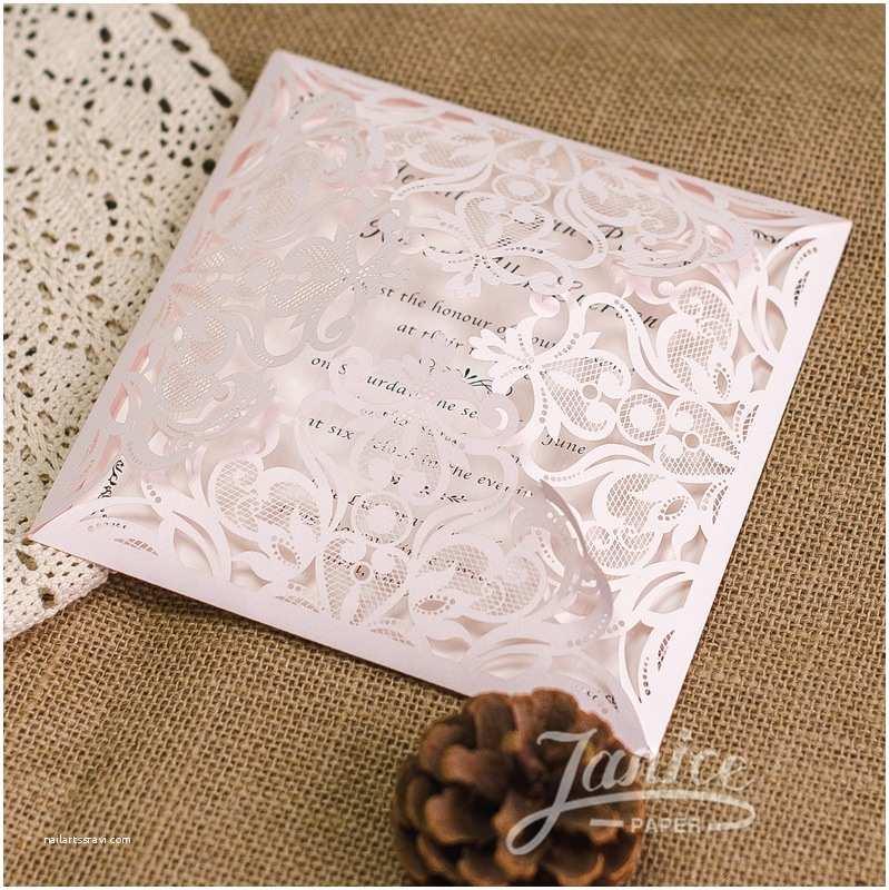 Laser Cut Pocket Wedding Invitations Custom Laser Cut Wedding Invitations
