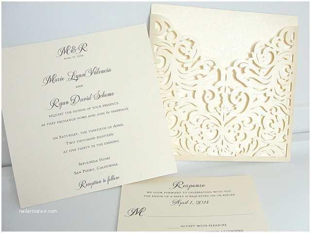 Laser Cut Pocket Wedding Invitations Laser Cut Wedding Invites Laser Cut Wedding Invitations