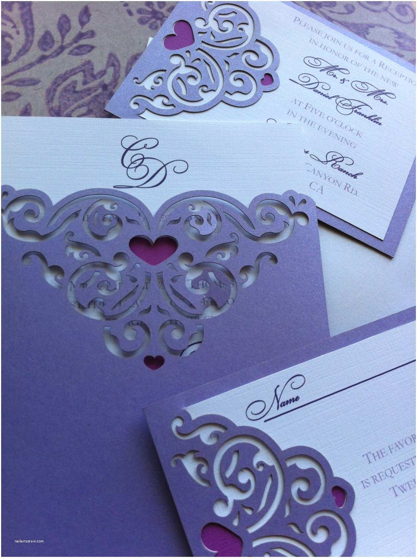 Laser Cut Pocket Wedding Invitations Wedding Invitation Lasercut Sweet Hearts Pocket Sleeve