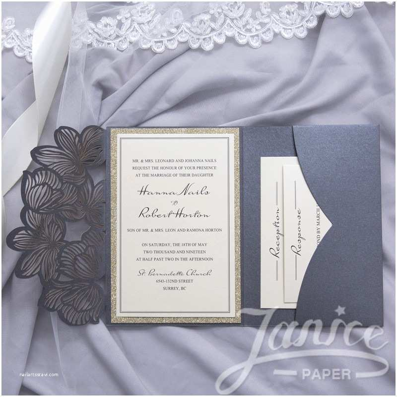 Laser Cut Pocket Wedding Invitations Wholesale Laser Cut Wedding